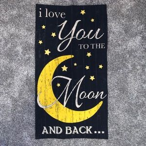 "Custom ""Love You To The Moon & Back"" wall hanging"